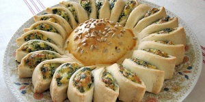 sunny spinach pie